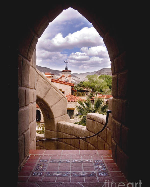 California Poster featuring the photograph Scotty's Castle by Greg Clure