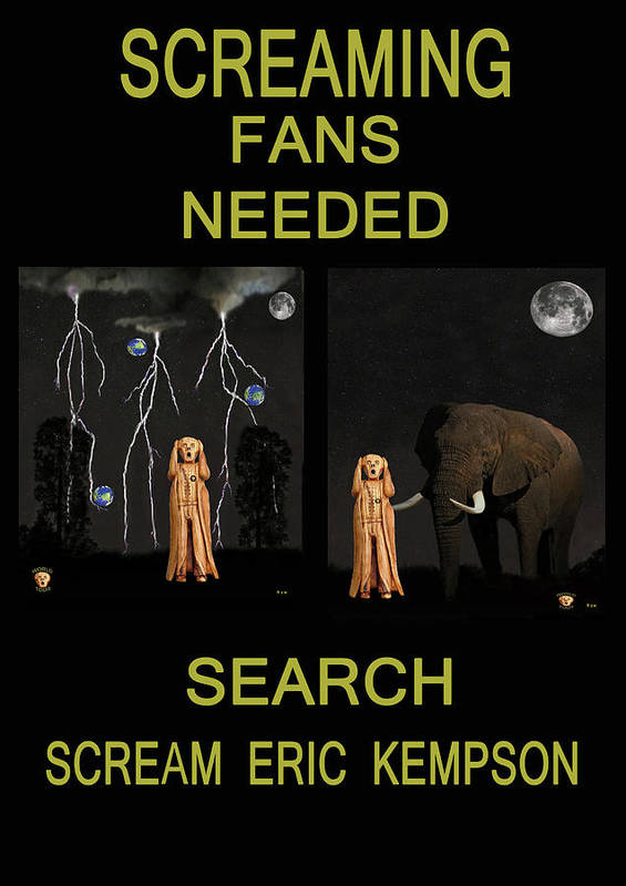 Scream To Be A Fan Poster featuring the mixed media Screaming Fans Needed by Eric Kempson