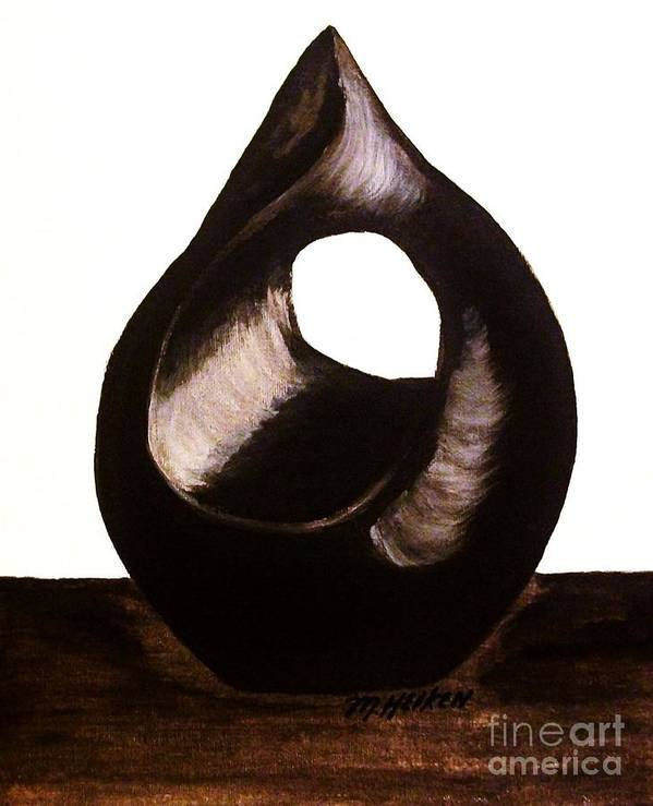Painting Poster featuring the painting Sculpture L by Marsha Heiken