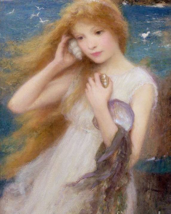 Sea Nymph Poster featuring the painting Sea Nymph by William Robert Symonds