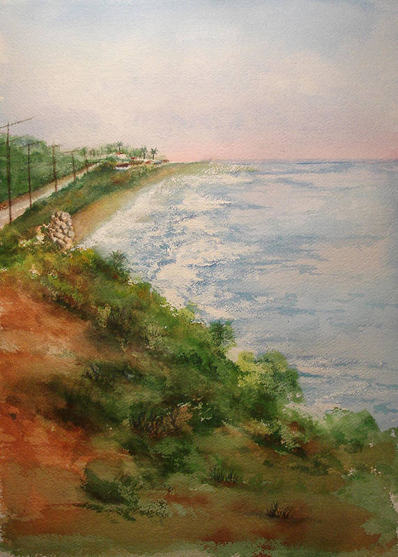 Landscape Poster featuring the painting Sea Of Dreams by Debbie Lewis