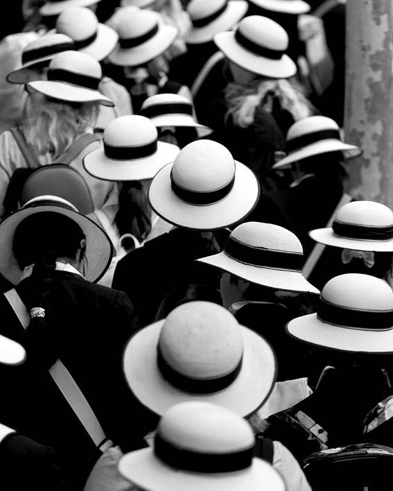 Hats Schoolgirls Poster featuring the photograph Sea Of Hats by Sheila Smart Fine Art Photography