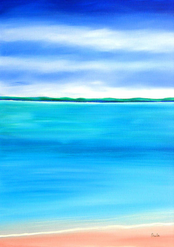 Caribbean Poster featuring the painting Sea Shallow by Sula Chance