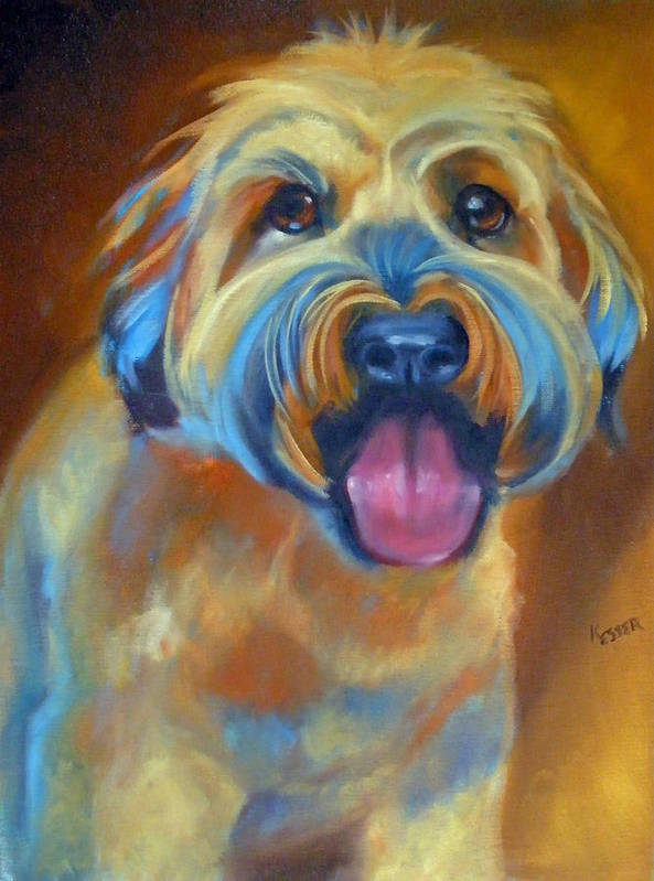 Wheaton Terrier Painting Poster featuring the painting Seamus by Kaytee Esser