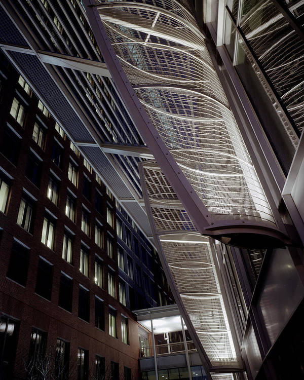 Architecture Poster featuring the photograph Seaport2 by Robert Ruscansky