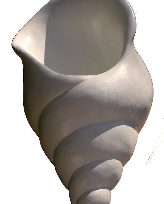 Seashell Poster featuring the sculpture Seashell One by Katia Weyher