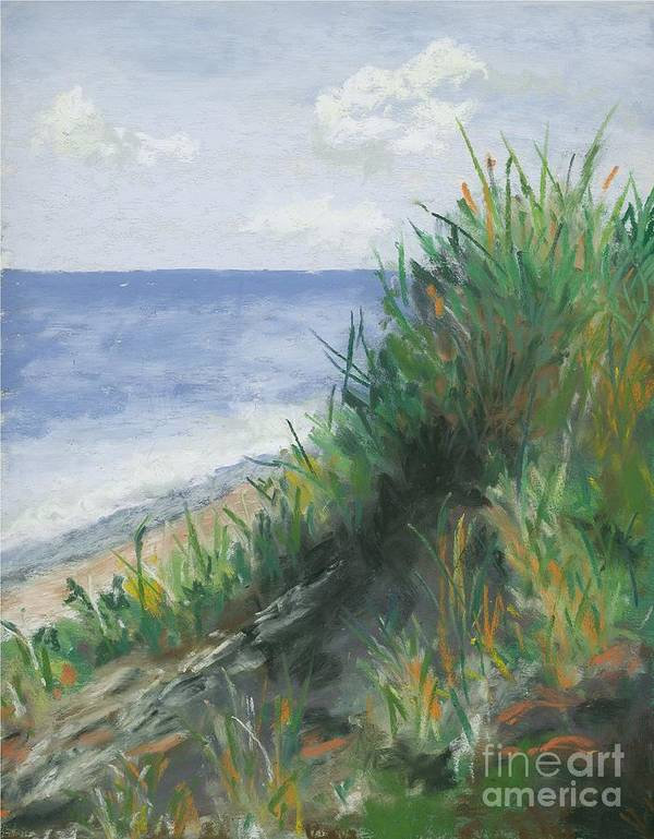 Ocean Poster featuring the pastel Seaside by Ginny Neece