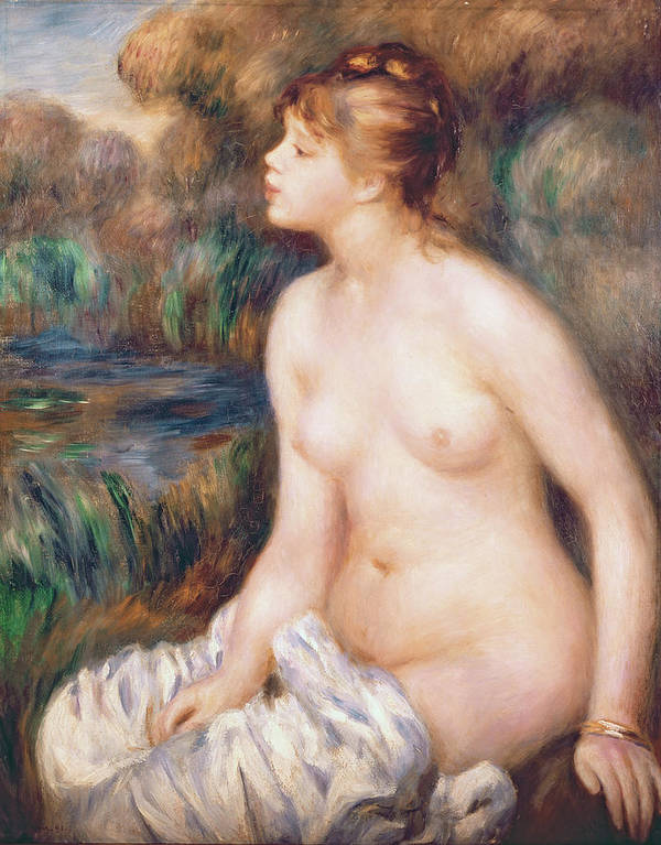 Seated Poster featuring the painting Seated Female Nude by Renoir