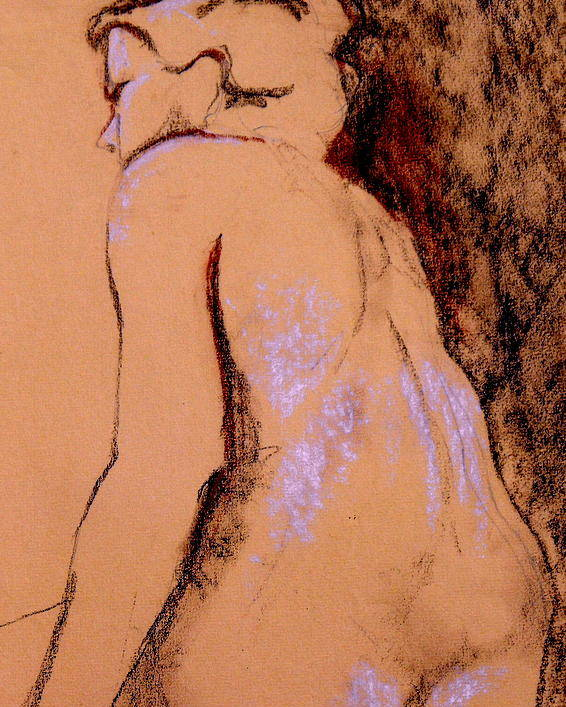 Nude Poster featuring the drawing Seated Nude by Ruth Mabee