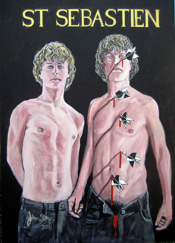 Gay Poster featuring the painting Sebastien by Ray Johnstone