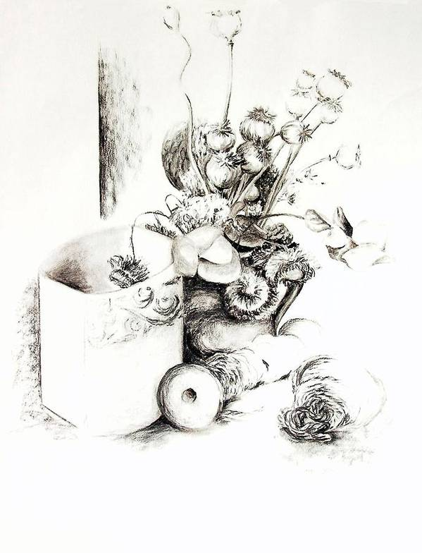 Still Life Poster featuring the drawing Sec by Muriel Dolemieux