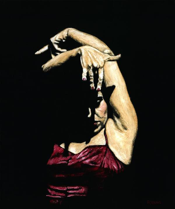 Flamenco Poster featuring the painting Seclusion Del Flamenco by Richard Young