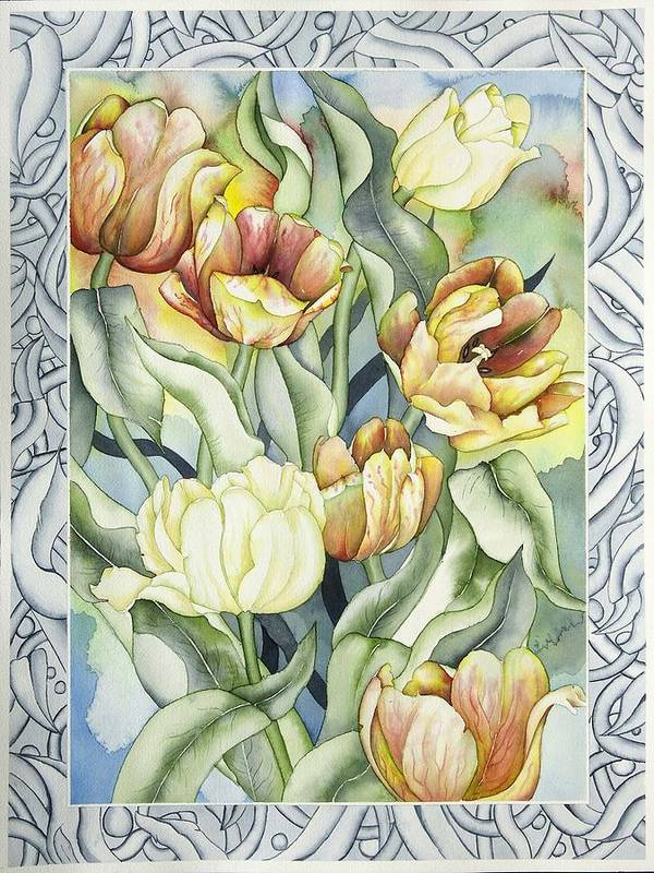 Flowers Poster featuring the painting Secret World I by Liduine Bekman