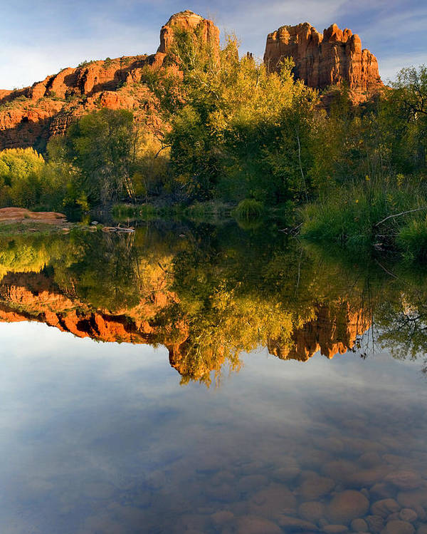 Reflection Poster featuring the photograph Sedona Sunset by Mike Dawson
