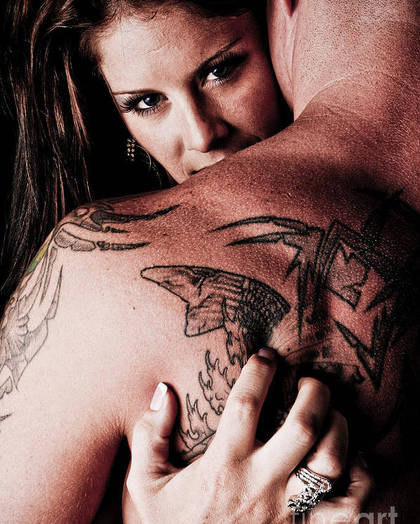Tattoos Poster featuring the photograph Seduction by Jt PhotoDesign