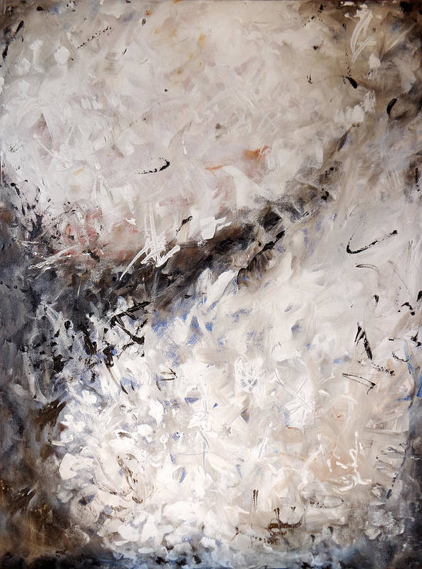 Abstract Poster featuring the painting See The World Turn Abstract Painting by Karla Beatty