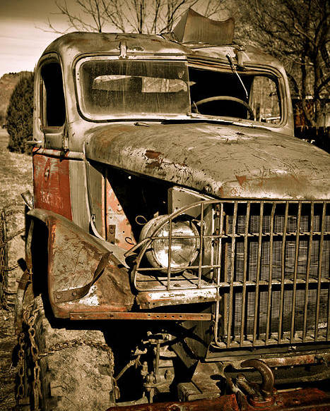 Old Vintage Antique Truck Worn Western Poster featuring the photograph Seen Better Days by Marilyn Hunt