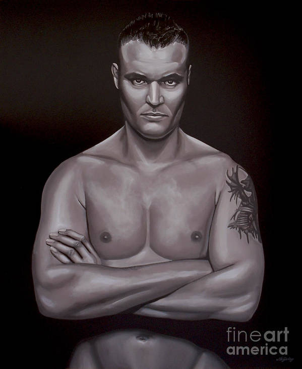 Semmy Schilt Poster featuring the painting Semmy Schilt by Paul Meijering