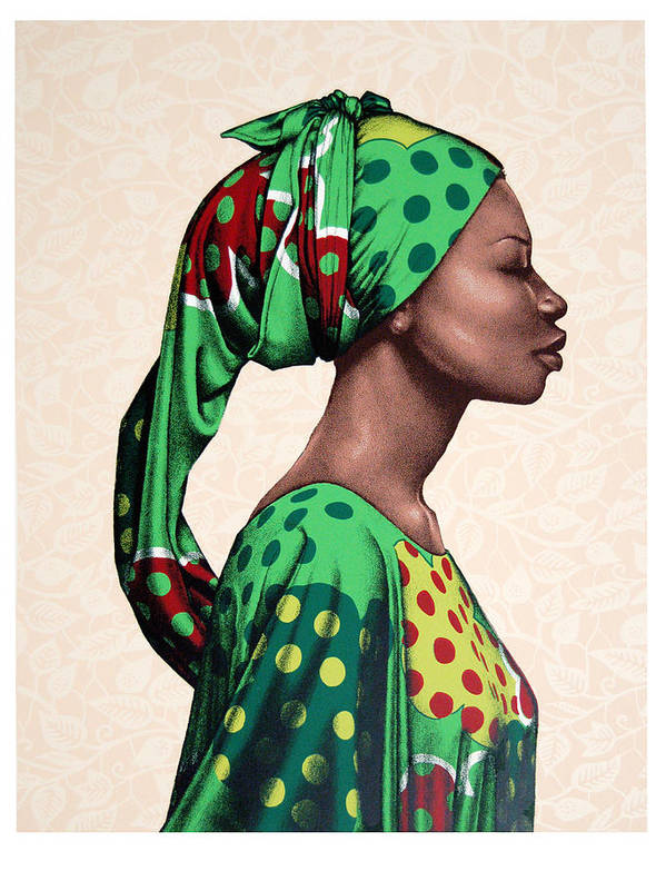 Carla Nickerson Poster featuring the print Senegalese Woman by Carla Nickerson