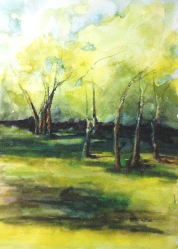 Trees Poster featuring the painting September At Mac O Cheek by Donna Pierce-Clark