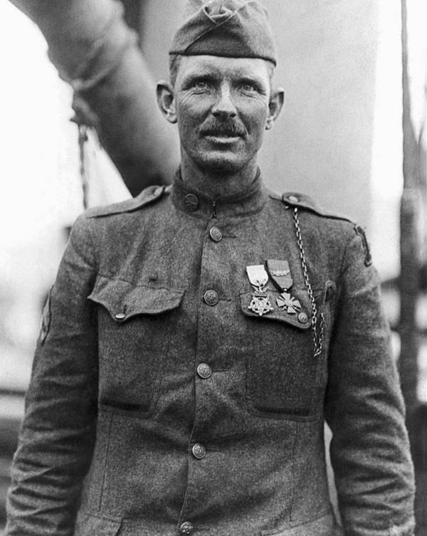 Alvin York Poster featuring the photograph Sergeant York - World War I Portrait by War Is Hell Store