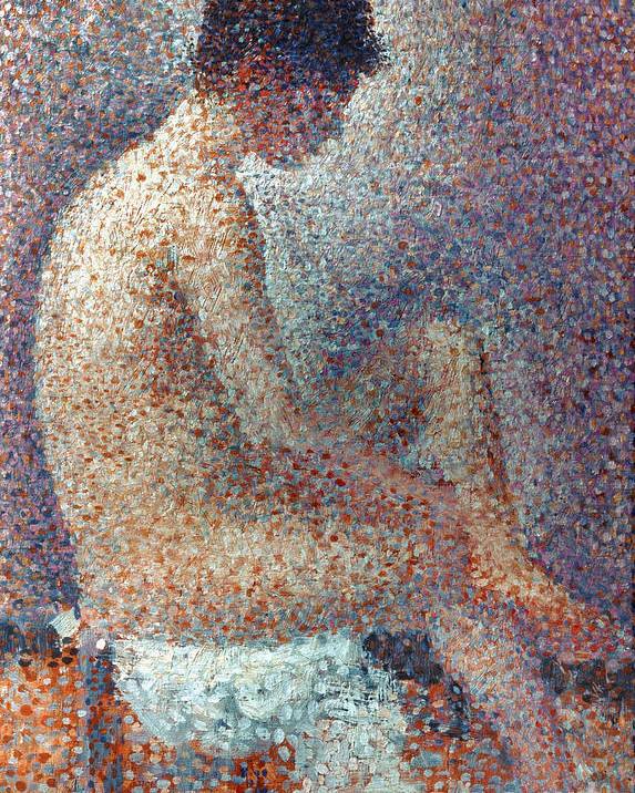 1887 Poster featuring the photograph Seurat: Model, 1887 by Granger