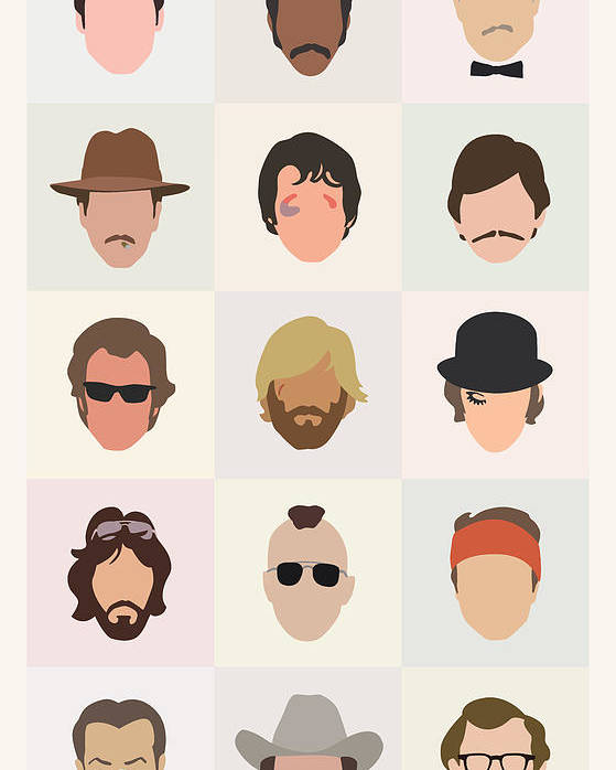1970s Poster featuring the digital art Seventies Movie Dudes by Mitch Frey
