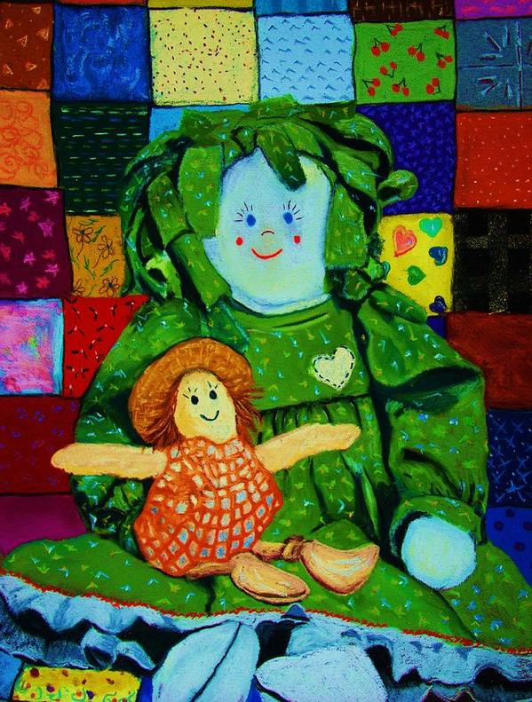 Dolls Poster featuring the print Sew Sweet by Melinda Etzold