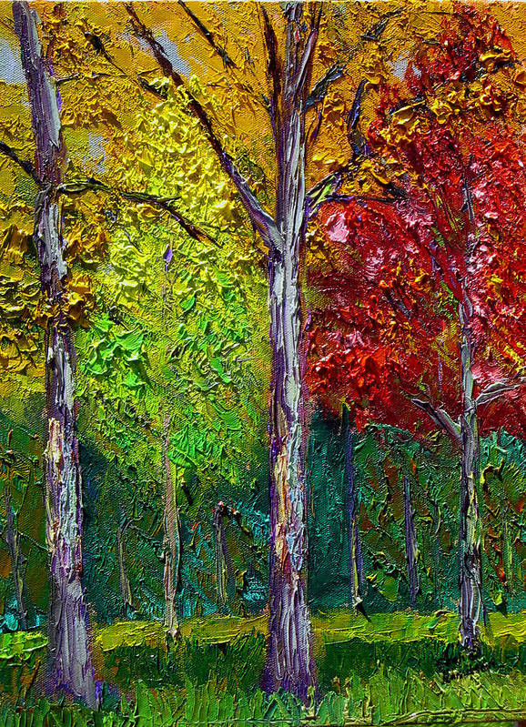 Fall Poster featuring the painting SEWP Fall by Stan Hamilton