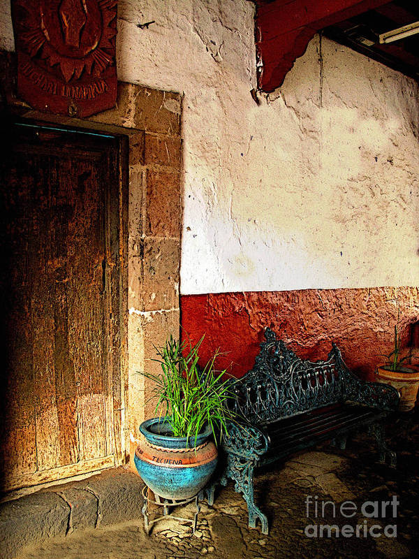 Patzcuaro Poster featuring the photograph Shaded Entrance by Mexicolors Art Photography