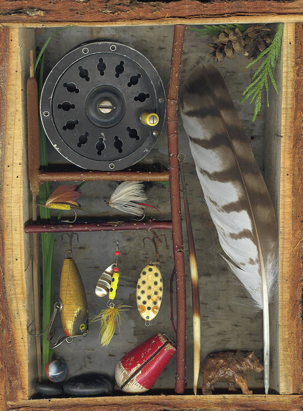 Shadow Box Poster featuring the mixed media Shadow Box A by Sandi F Hutchins