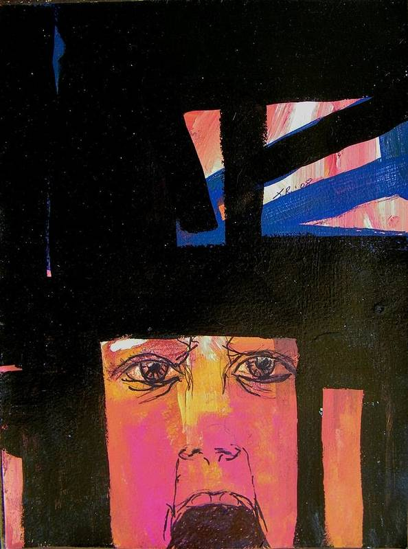 Abstract Poster featuring the painting Shadow Boxer by Judith Redman