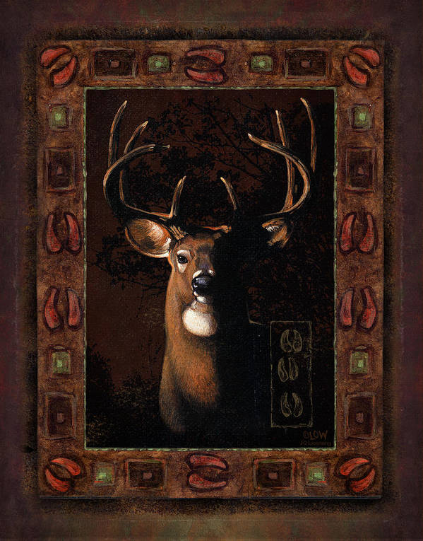 Wildlife Poster featuring the painting Shadow Deer by JQ Licensing