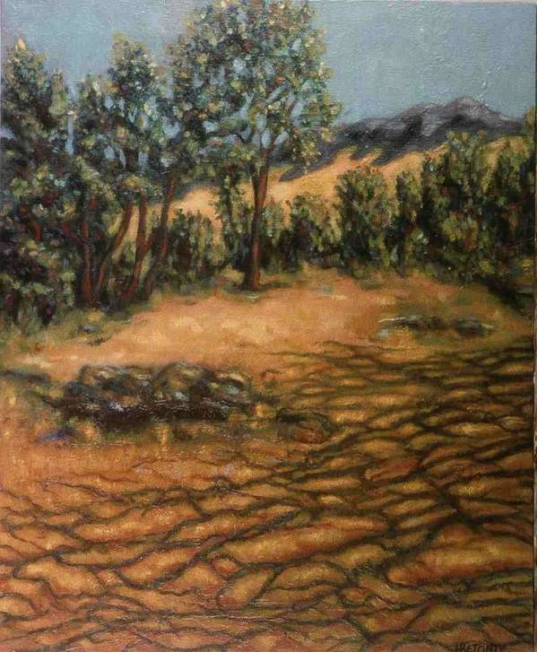 Trees Poster featuring the painting Shadows by Helen O Hara
