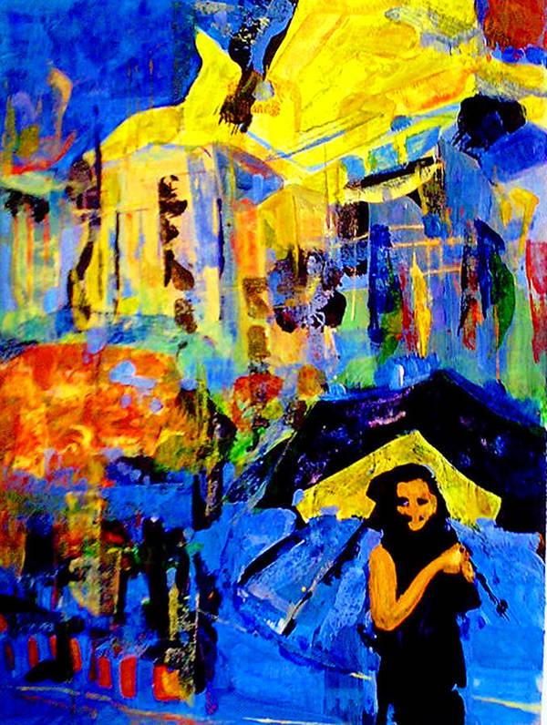 Artwork Poster featuring the painting Shalom Manhattan by Maya Green