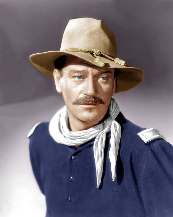 1940s Portraits Poster featuring the photograph She Wore A Yellow Ribbon, John Wayne by Everett
