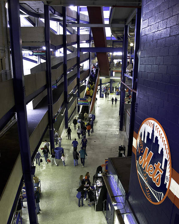 Baseball Poster featuring the photograph Shea Stadium Walkways by Paul Plaine