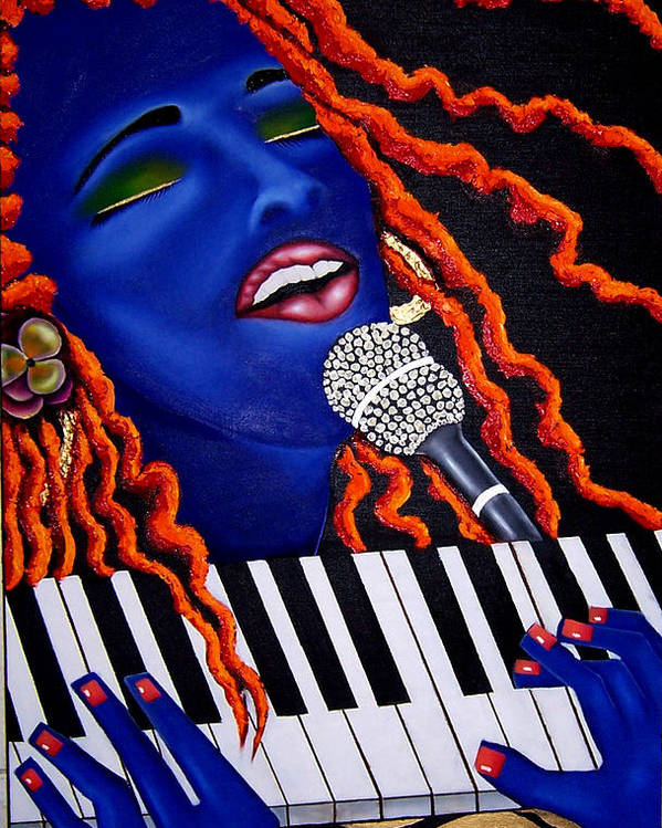 Portrait Poster featuring the painting She's Magic by Nannette Harris