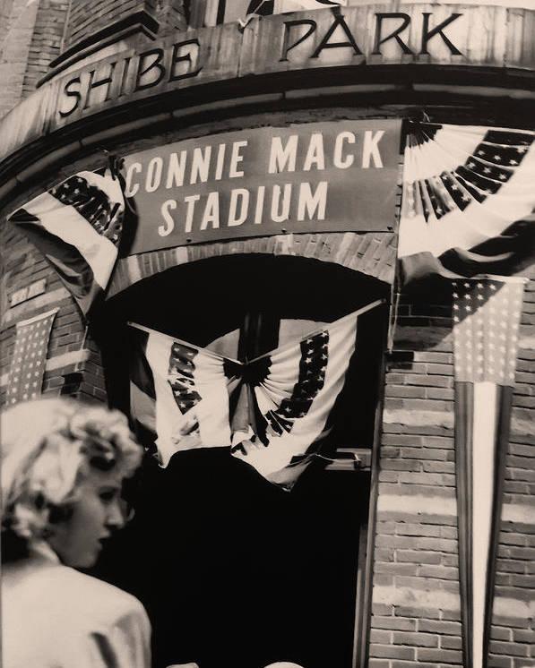 Shibe Park - Connie Mack Stadium Poster featuring the photograph Shibe Park - Connie Mack Stadium by Bill Cannon