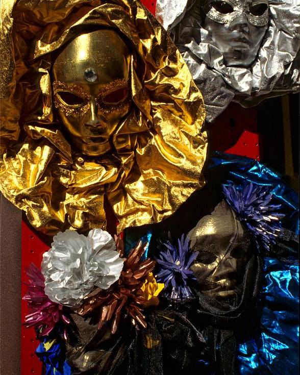 Venice Poster featuring the photograph Shiny Masks In Venice by Michael Henderson