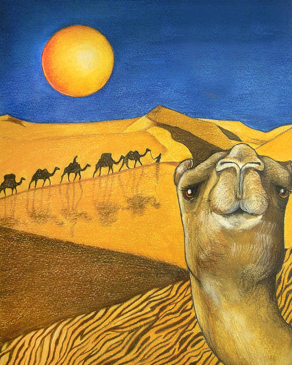 Camel Poster featuring the painting Ship Of The Desert by Robert Lacy