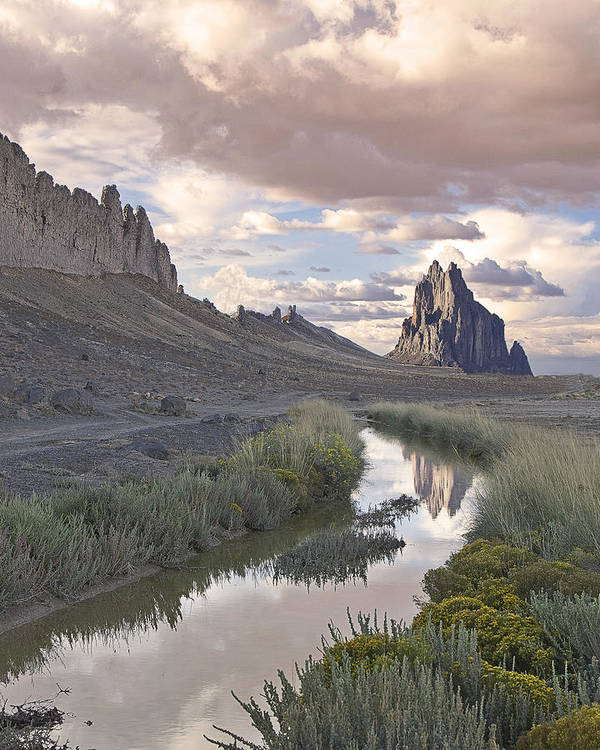 New Mexico Magazine Cover February 2012 Poster featuring the photograph Ship Rock New Mexico by Bob Ayre