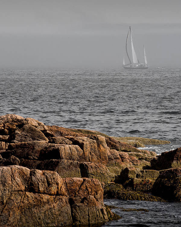 Ships Harbor Poster featuring the photograph Ships Harbor In Maine by James Dricker