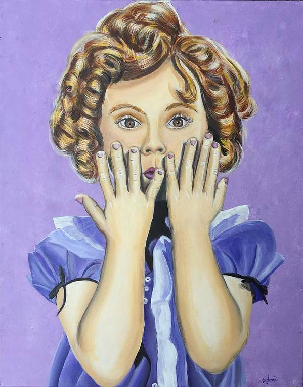 Shirley Temple Poster featuring the painting Shirley Temple by Grayson Engleman