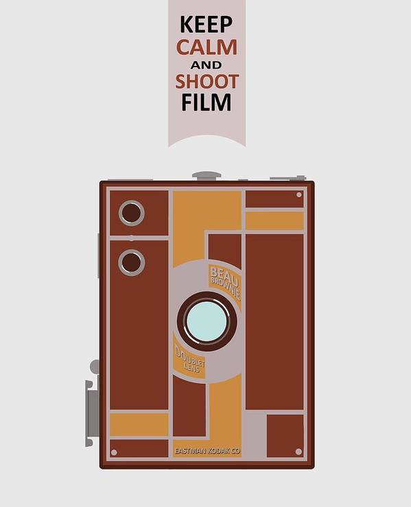 Camera Poster featuring the digital art Shoot Film by Mal Bray