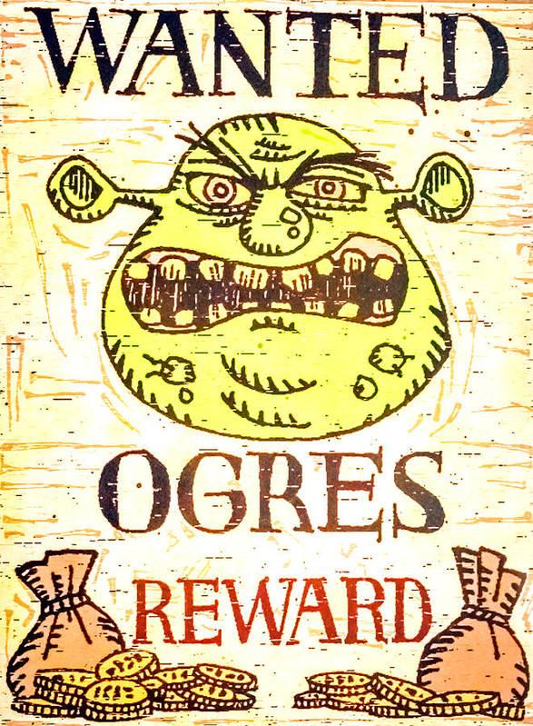 Shrek Movie Poster Poster By Jijo George