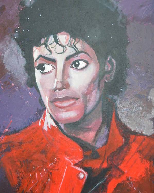 Michael Jackson Poster featuring the painting Shriller by Luci Ferguson