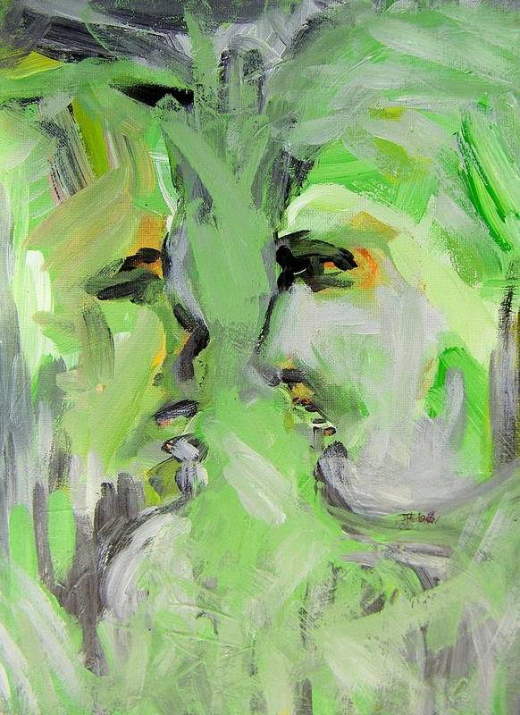 Abstract Poster featuring the painting Siblings by Judith Redman