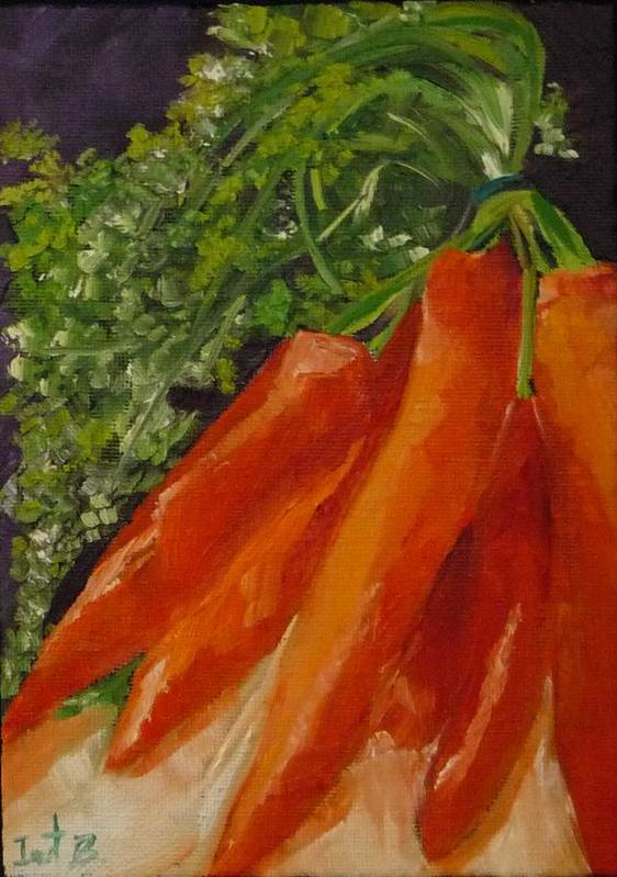 Carrots Poster featuring the painting Side Dish by Irit Bourla