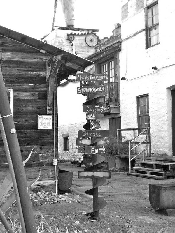 Feed Mill Cafe Poster featuring the photograph Signs by Sheep McTavish